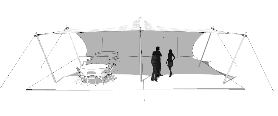 This means that it can be rigged open sided or closed down with side walls. Side walls can be rolled up neatly when not required and easily dropped by your ...  sc 1 st  Freeform® Tents & Party Tents for Sale | Small u0026 Medium Stretch Tents | Freeform® Tents