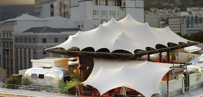 Custom Freeform ® tent creates rooftop bar for GrandDaddy, Cape Town