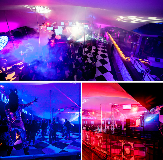 Freeform® Stretch Tents at the Shimmey Beach Bar, Loeries Party 2014