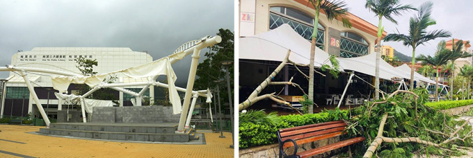 Freeform Stretch Tent survives typhoon